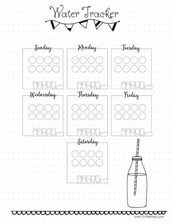 ea9a1e5a08548f69c9784aca5f02e338 daily water intake tracker templates forms printables pinterest on house cleaning contract template
