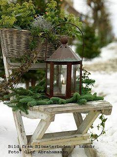 White Weathered Hutch: Snow....Winter......Garden....