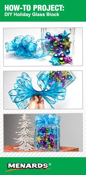 DIY Holiday Glass Block brought to you by the Menards How To Center http://www.menards.com/main/c-1445868983324.htm