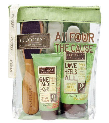 Ecotools All Four The Cause Hand and Foot Set by ecotools. $19.99. 1% of Sales donated to environmental organizations. Set Contains: Hand Cream, Heel Cream, Foot File, and Moisture Gloves. Made from recycled and sustainable materials. Phthalate Free. 98% from Nature. EcoTools bath accessories bring more green into your shower scene