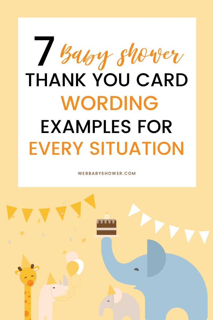 9 baby shower thank you card wording examples epic ideas