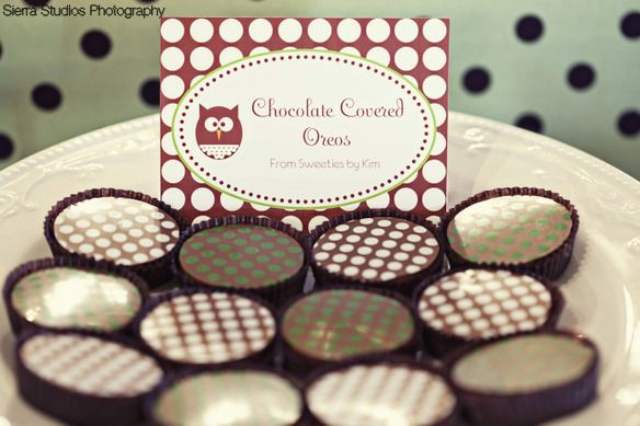 Chocolate Covered Oreos with Polka Dots