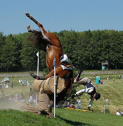 Horse Takes a Tumble at the Rolex Equestrian Event ..... and you think riding a horse is easy