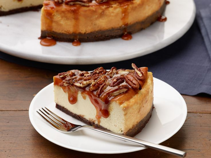 Pecan-Pie Cheesecake recipe from Food Network Kitchen via Food Network