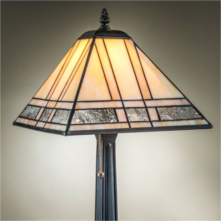 Attractive J Devlin Table Lamp 380 2, Mission Style Stained Glass Table Lamps