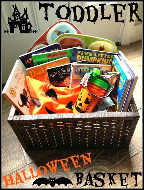 Toddler Halloween Basket  - a spooky basket filled with scary good fun for your littlest ghostling!