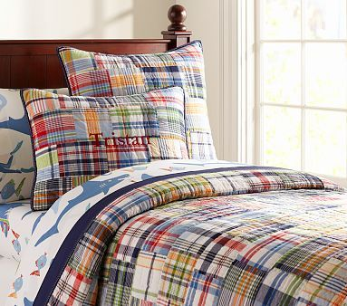 I love this PB Madras Quilt, its Dylan's next bedding set, very versitile and will match with any theme!