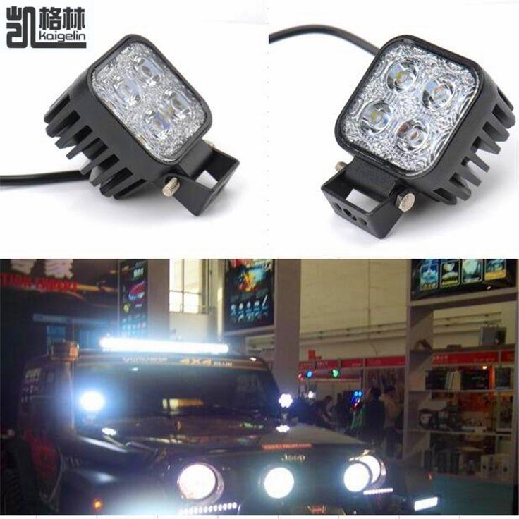2 PCS 12 W Mobil LED Offroad Kerja Cahaya Bar untuk Jeep 4x4 4WD AWD SUV ATV Golf Cart 12 v 24 v Mengemudi Lampu Sepeda Motor Kabut Cahaya