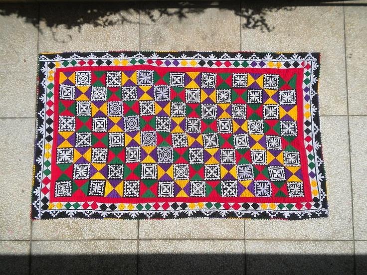 Applique Patchwork Design Rilli Traditional Bedsheet
