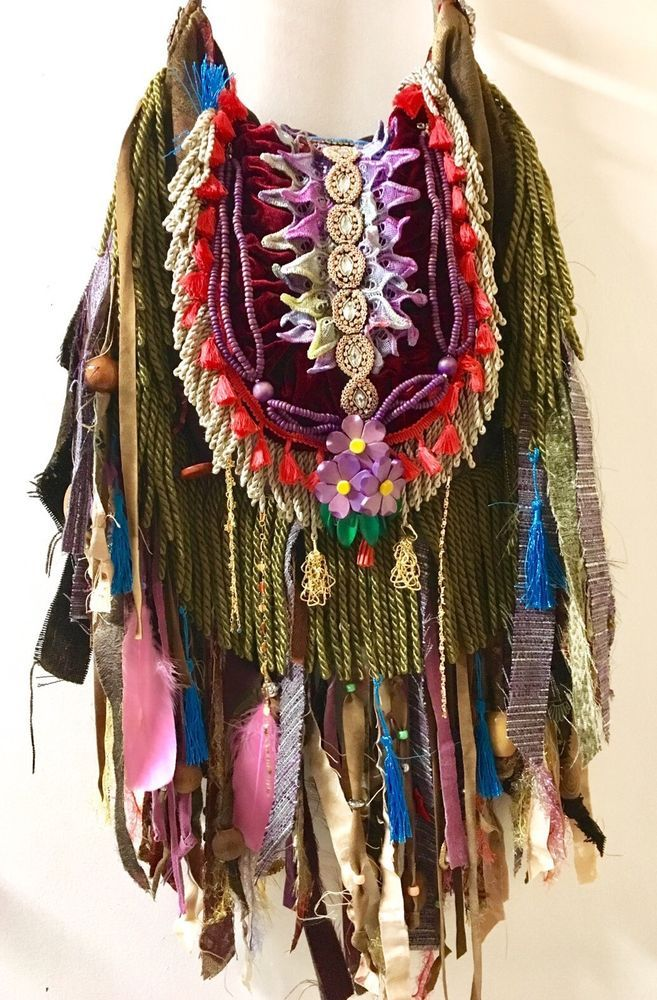 Handmade Fringe Ibiza Festival Cross Fringe Body Bag Gypsy Hippie Boho B.Joy  | eBay