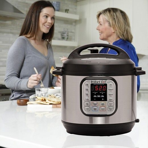 With the DUO80 7-in-1 Multi-Use Programmable Cooker from Instant Pot, you can focus more on entertaining, as you'll spend less time in the kitchen. Designed to be safe, convenient and dependable, this smart electric pressure cooker speeds up cooking by 2-6 times, using up to 70% less energy - all in a convenient and consistent fashion. Whether you're sauteing vegetables, searing meat, whipping up a batch of chili or simply cooking rice, this 7-in-1 cooker will let you cook your favori...