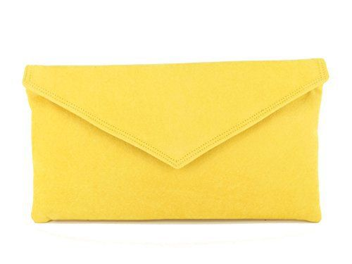 "New Trending Clutch Bags: Loni Womens Neat Envelope Faux Suede Clutch Bag/Shoulder Bag in Yellow. Loni Womens Neat Envelope Faux Suede Clutch Bag/Shoulder Bag in Yellow   Special Offer: $29.99      122 Reviews Neat evening/occasion/wedding bag in smooth faux suede. Envelope design in a choice of colours, all designed with shoe and outfit matching in mind. Suitable for all ""going..."