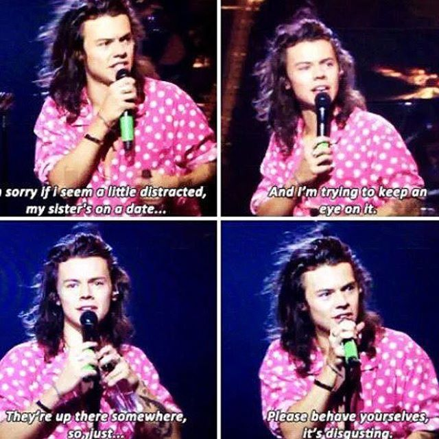 Harry talking about Gemma on a date hahah ~ Anne ♡