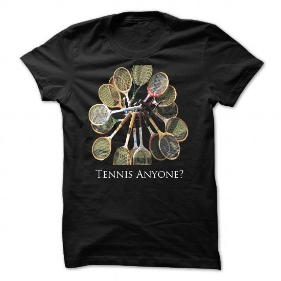 Tennis Anyone? - #tee party #long tshirt. MORE ITEMS => https://www.sunfrog.com/LifeStyle/Tennis-Anyone-Black-Hoodie.html?60505