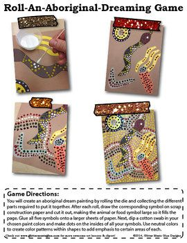 Roll-An-Aboriginal-Dreaming Game -... by Glitter Meets Glue Designs | Teachers Pay Teachers