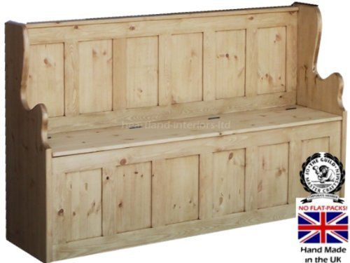 Solid Pine Storage Bench, 5ft Wide Handcrafted & Waxed Monks Bench, Settle, Pew with Lifting Lid Shoe Storage Seat. Choice of Colours. No flat packs, No assembly by Heartland Interiors Ltd, http://www.amazon.co.uk/dp/B005OZXD2S/ref=cm_sw_r_pi_dp_-KEksb0YKY43N