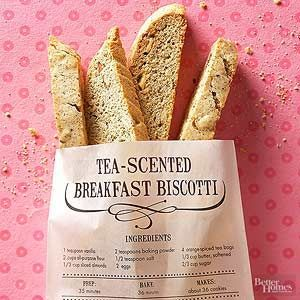 Make your own biscotti recipe at home! This biscotti cookie recipe gets a touch of elegance through the infusion of spice tea.