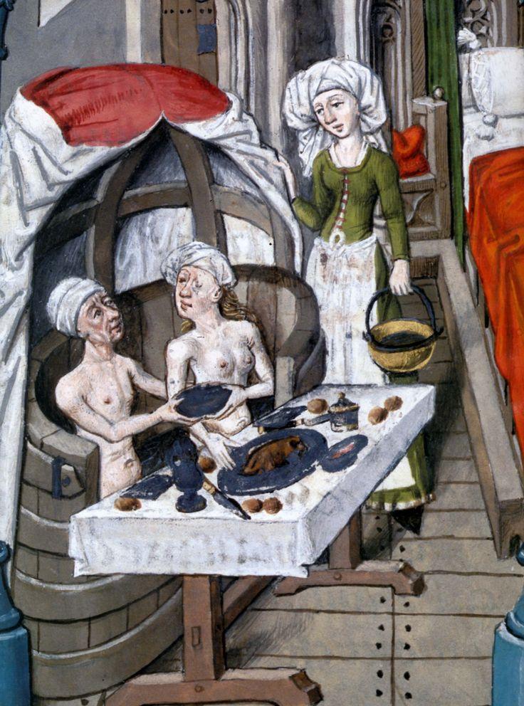 1401 1500 valère maxime, sergius orata dans son bain, miniature extraite de faits et dits mémorables