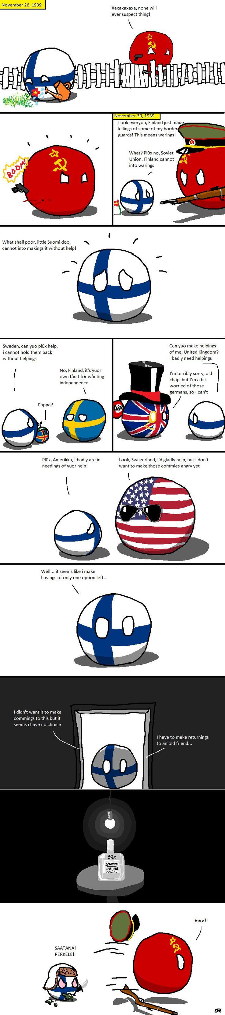 The Finnish solution ( Finland, Soviet ) by Tobinov  #polandball #countryball