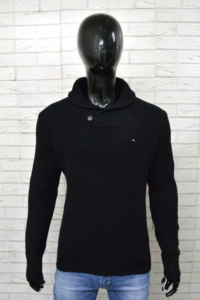 Maglione TOMMY HILFIGER Uomo Taglia Size S Pullover Sweater