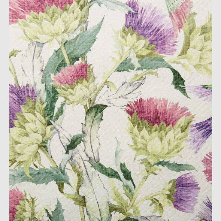Gucci Thistles and Birds print wallpaper Print wallpaper