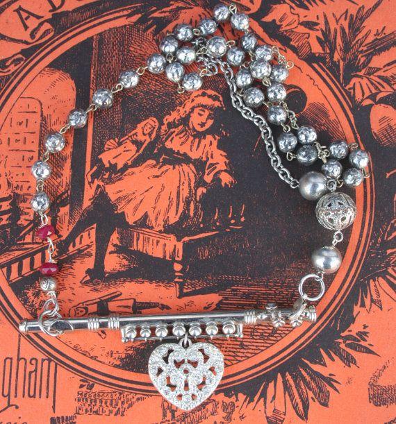 Assemblage necklace Vintage Assemblage ooak necklace