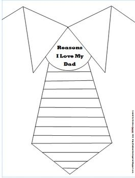 Fathers Day Tie {Writing Freebie}