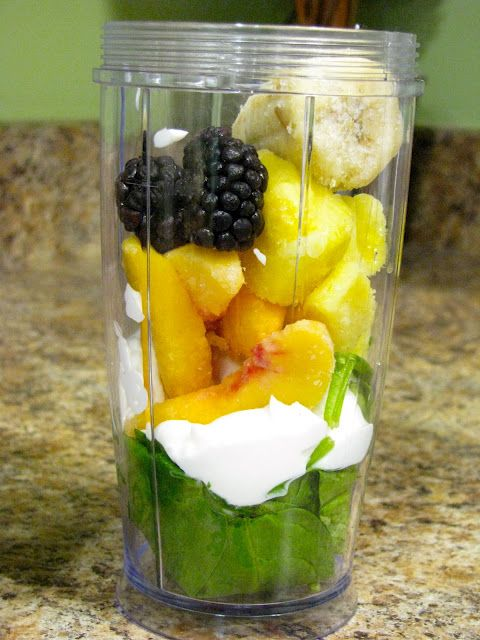 Magic Bullet smoothies: Greek Yogurt, Almond Milk, bananas, and frozen spinach or kale. Maybe a splash of OJ. Get some calcium into your morning! I'm thinking I can make a few batches and freeze a few, refrigerate a few, so I can have a ready-to-go breakfast in the mornings.
