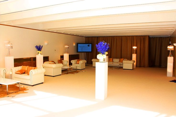 Check out our garden room all kitted out in The Event Hire company's white furniture! WOW