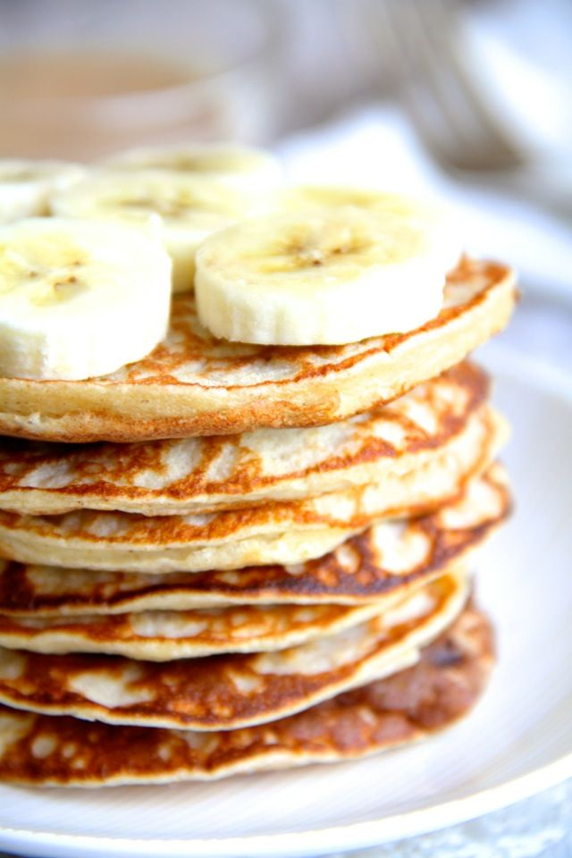 Chunky Monkey Greek Yogurt Pancakes --