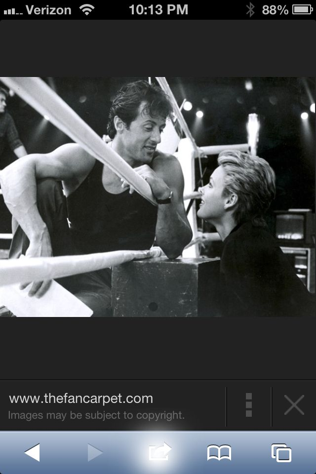 Sylvester Stallone and Brigitte Nielson