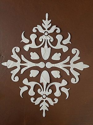 large stencil  ARRAH DAMASK REPEATING RAISED PLASTER STENCIL PAINTING STENCIL - GORGEOUS!!