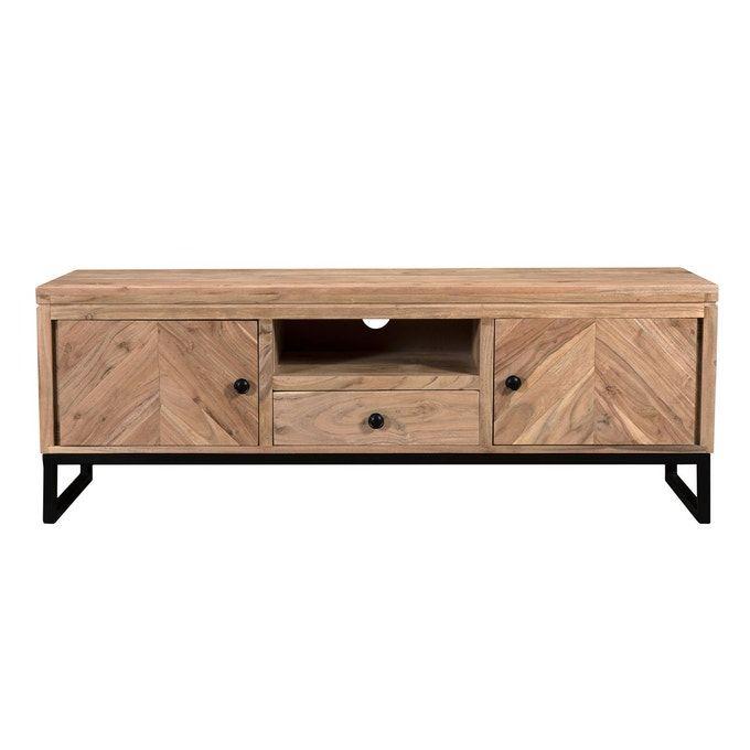 Meuble Tv Agata En Bois Bois Clair Rendez Vous Deco La Redoute En 2020 Meuble Tv Mobilier De Salon Meuble Tv Design
