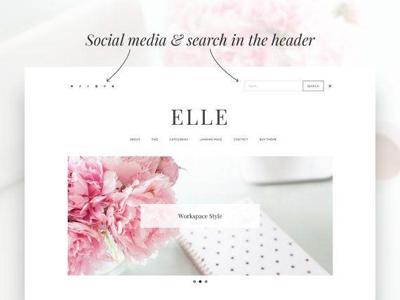 Elle Minimalist WordPress Theme RESPONSIVE Wordpress