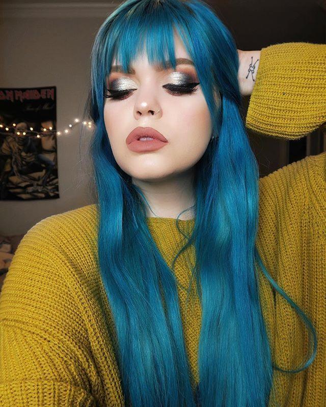 Blue Hair Color Ashkmakeup Gorgeous Wedding Makeup Gorgeous Makeup Best Makeup Products