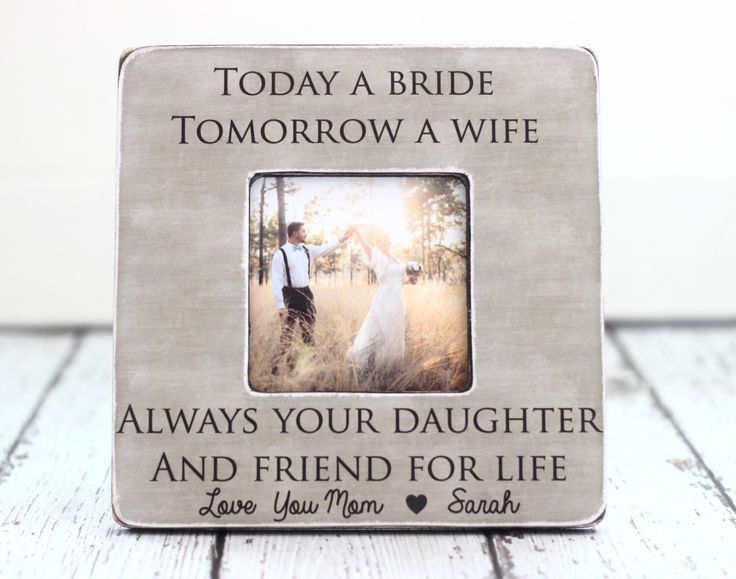 Mom Mother Wedding Thank You Gift Today A Bride Tomorrow Wife Forever Your Daughter And