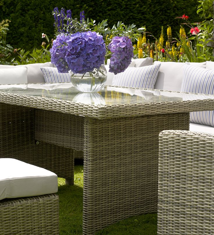 casual dining set create a relaxed look feel and style with bramblecrests different colours and garden furniture - Garden Furniture Colours