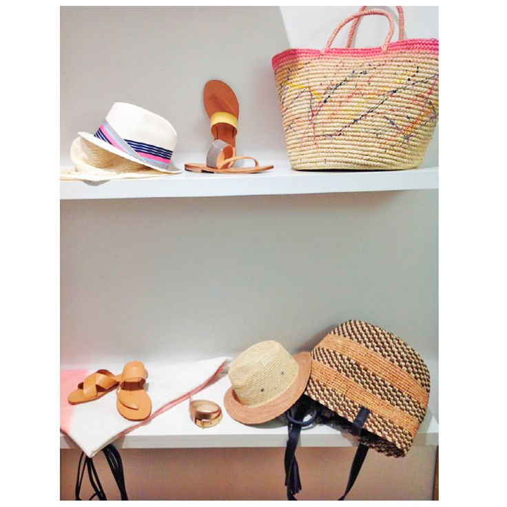 Winwood Fashion Showroom display of our SS15 collection. #Handbags #Panamahats