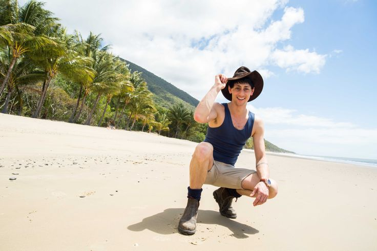 Outback Matty with his favorite hat in Cairns - Jacaru Australia