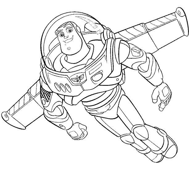 Buzz Toy Story Coloring Pages Toy Story Coloring Pages Cartoon