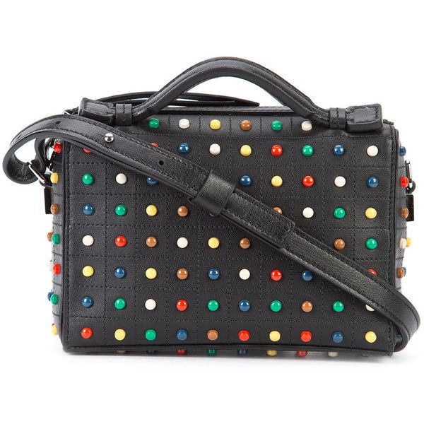Tod's studded crossbody bag ($927) ❤ liked on Polyvore featuring bags, handbags, shoulder bags, black, multi color purse, studded handbags, tod's handbag, multi colored handbags and multicolor handbags