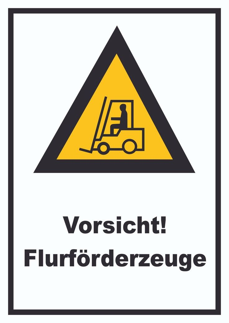 warnschild vorsicht flurf rderfahrzeuge gabelstapler warnung schilder gefahr verkehr. Black Bedroom Furniture Sets. Home Design Ideas