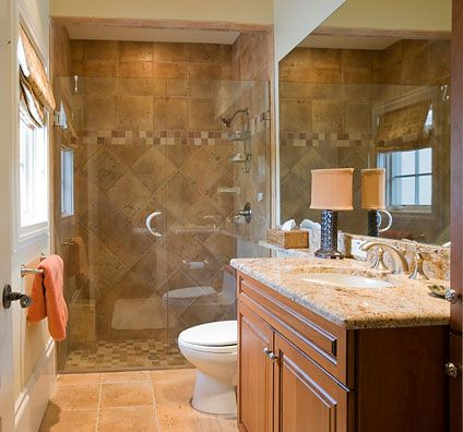 Small bathroom ideasShower Design, Guest Bathroom, Small Bathroom, Shower Doors, Tile Shower, Bathroom Remodeling, Bathroom Ideas, Master Bath, Bathroom Shower