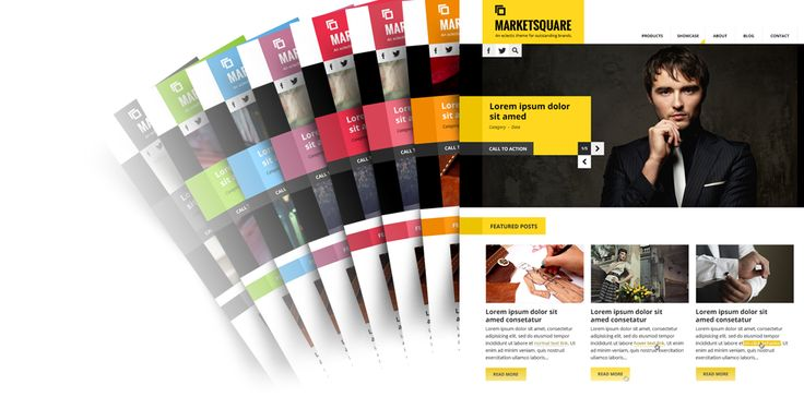 MARKETSQUARE  An eclectic theme for outstanding brands.  Responsive & colorful, with a touch of eccentricity and grooviness. Bundled with Drupal Commerce.  http://www.morethanthemes.com/?q=themes/marketsquare