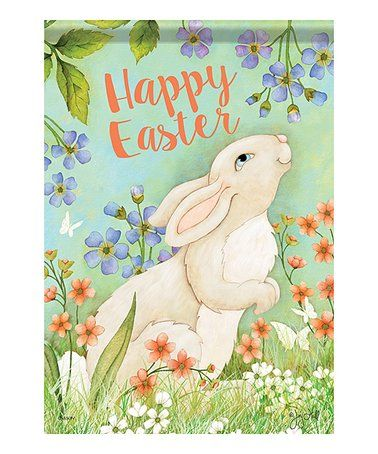 Love this 'Happy Easter' Easter Bunny Outdoor Flag on #zulily! #zulilyfinds