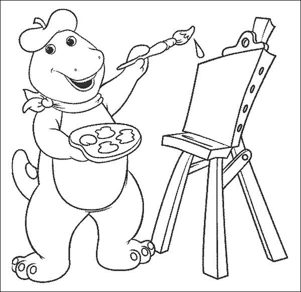 Good Barney Coloring Book 88 Cartoon Coloring Pages For