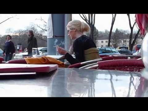 ▶ Beautiful Blonde in Glasses Smoking Cigarette - YouTube