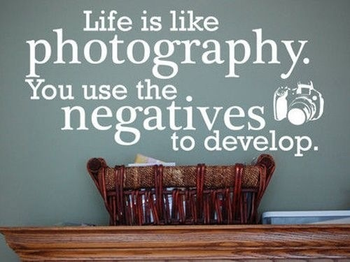 Use the negatives to develop...