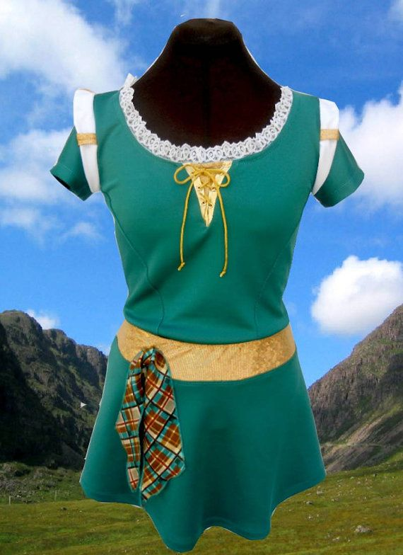 Merida Brave inspired complete running outfit on Etsy, $110.00