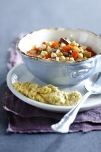 Kruidige hummus en aubergine #Avogelrecepten